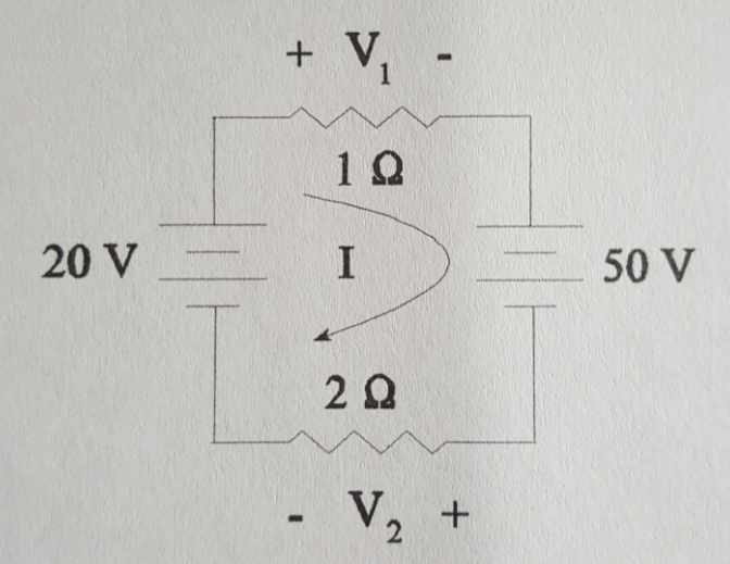 Circuit analysis with Kirchhoff's Voltage law